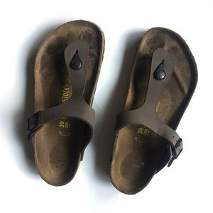 Birkenstock 39 Gizeh Brown Sandals